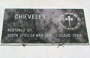 War Cemetry Plaque S. Africa