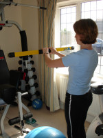 Vibration training with body blade