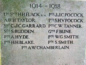 Memorial names 1914-1918