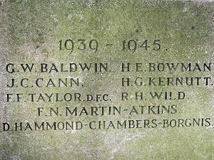 Memorial names 1939-45